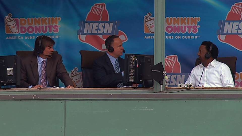 Pedro chats with NESN booth
