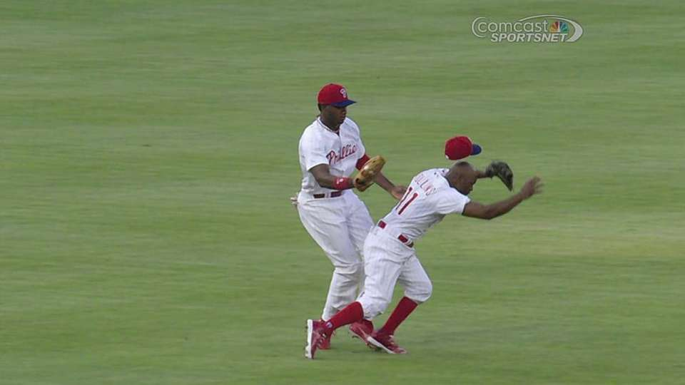 Rollins, Brown collide on popup