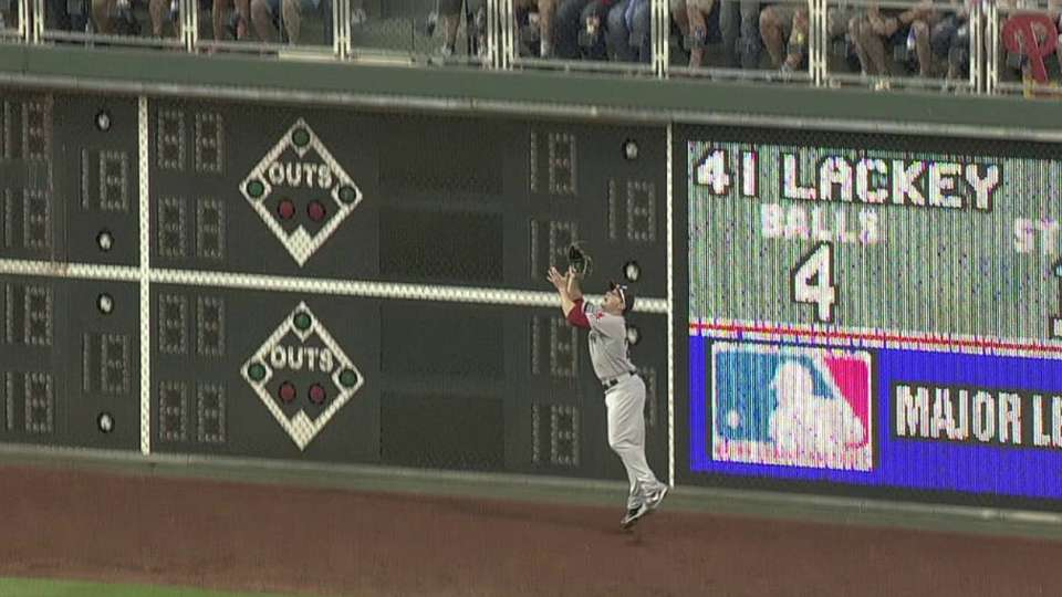 Nava's leaping grab