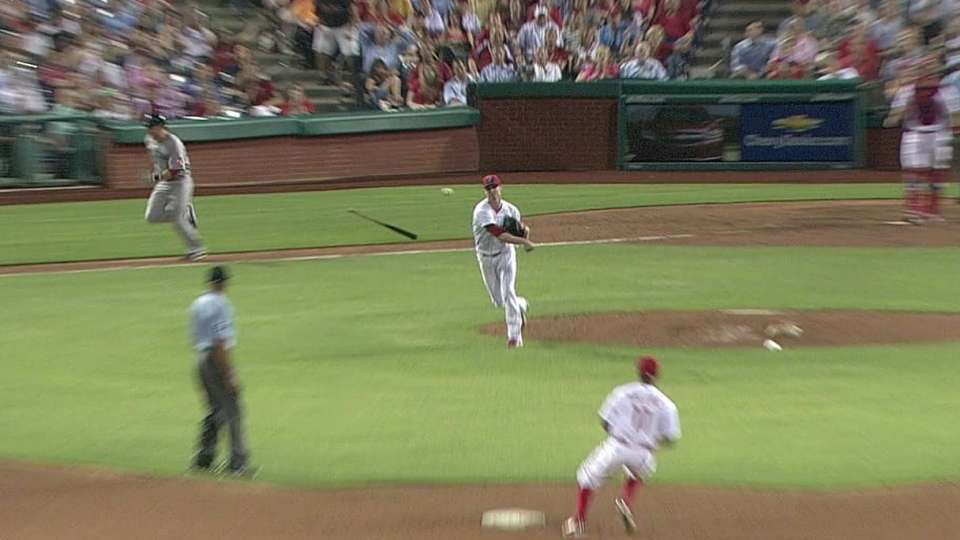 Kendrick induces double play