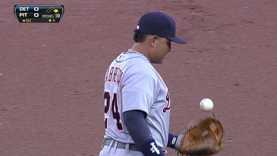 Cabrera's quick grab