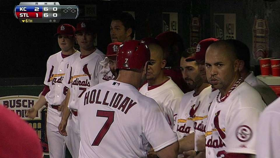 Holliday's mammoth solo shot