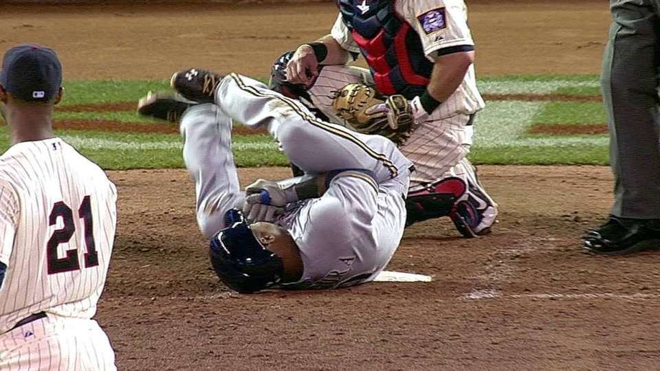 Segura hit by pitch