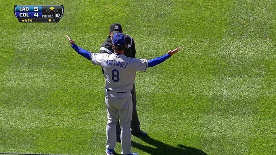 Mattingly tossed in sixth