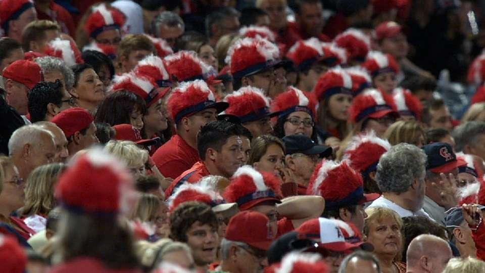 Angels fans set world record