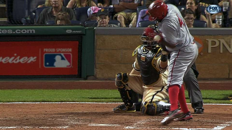 Phillips plunked, exits early