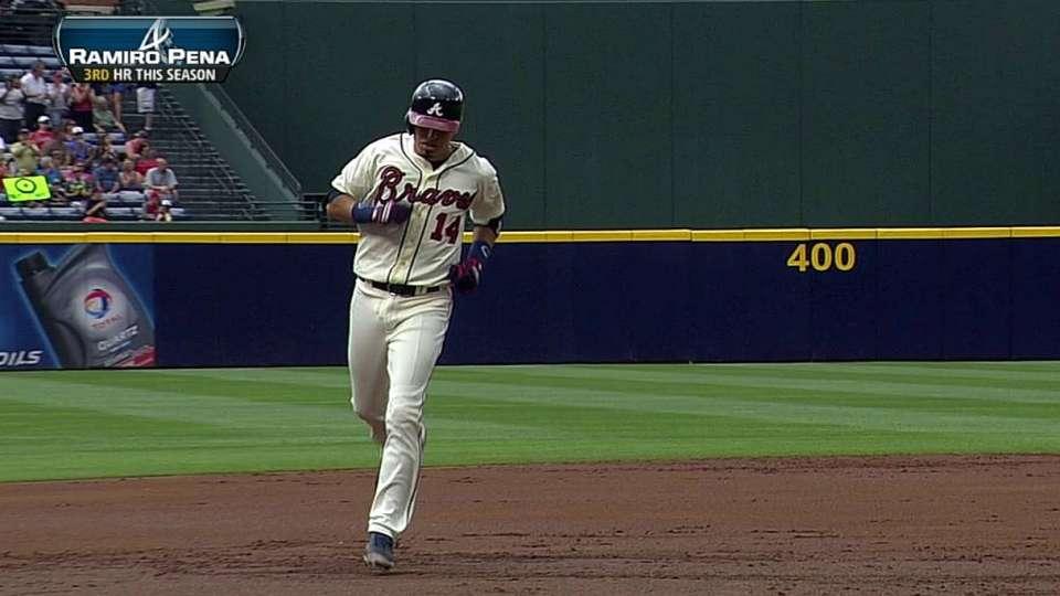 Pena's two-run homer