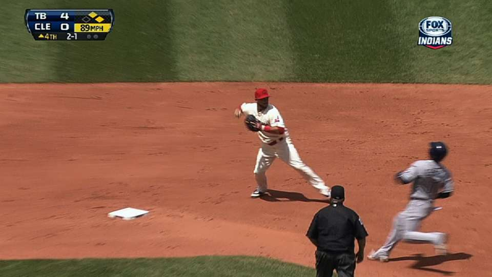 McAllister induces double play