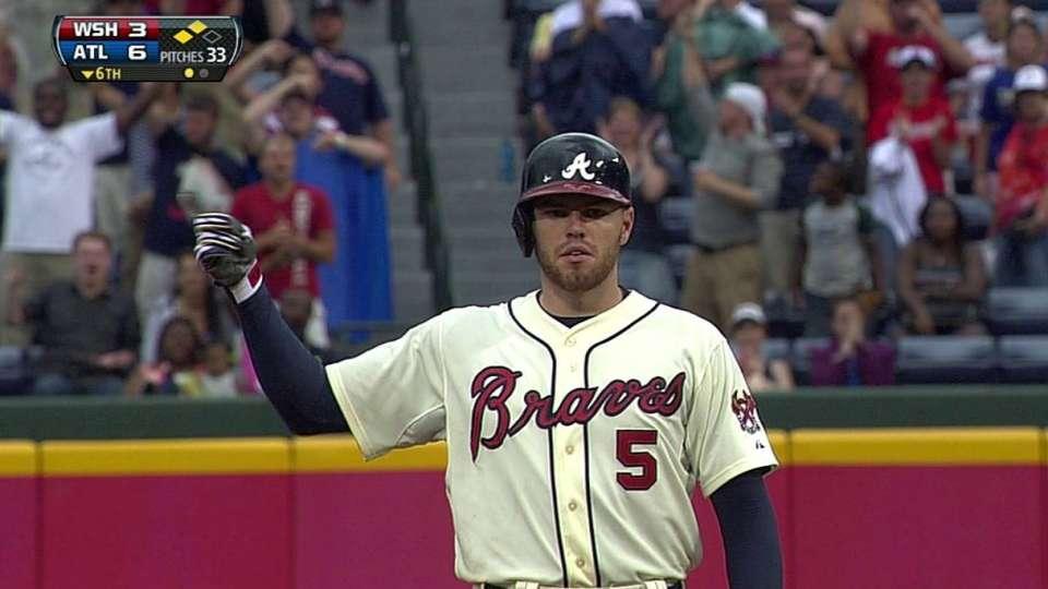 Freeman's two-run double