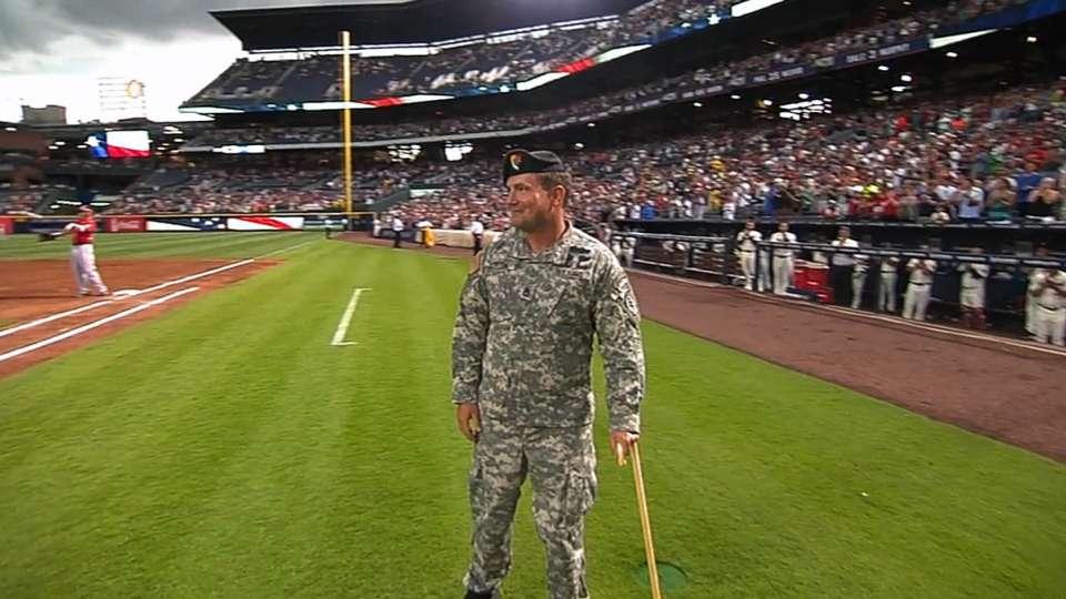 Braves honor serviceman