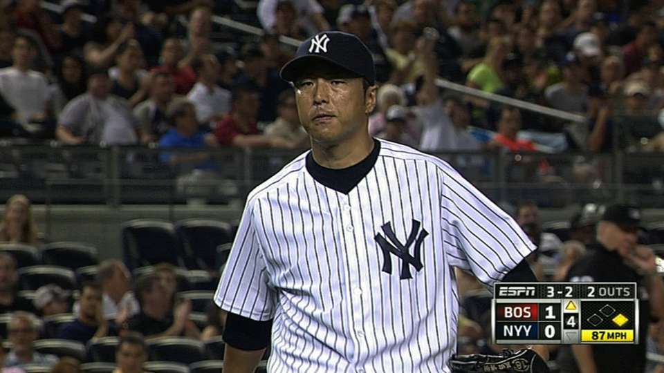 Kuroda's outing against Red Sox