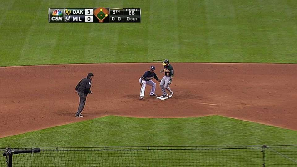 Lowrie's RBI double
