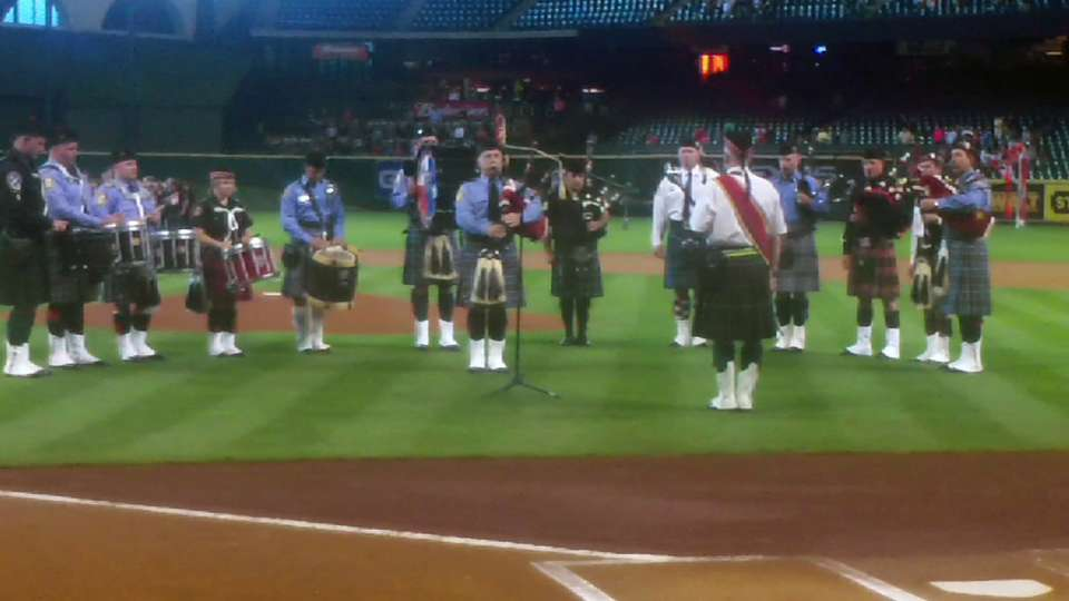 Astros honor firefighters