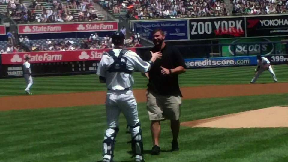Pugh throws out first pitch