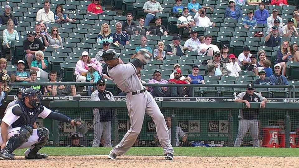 Rios' second RBI hit