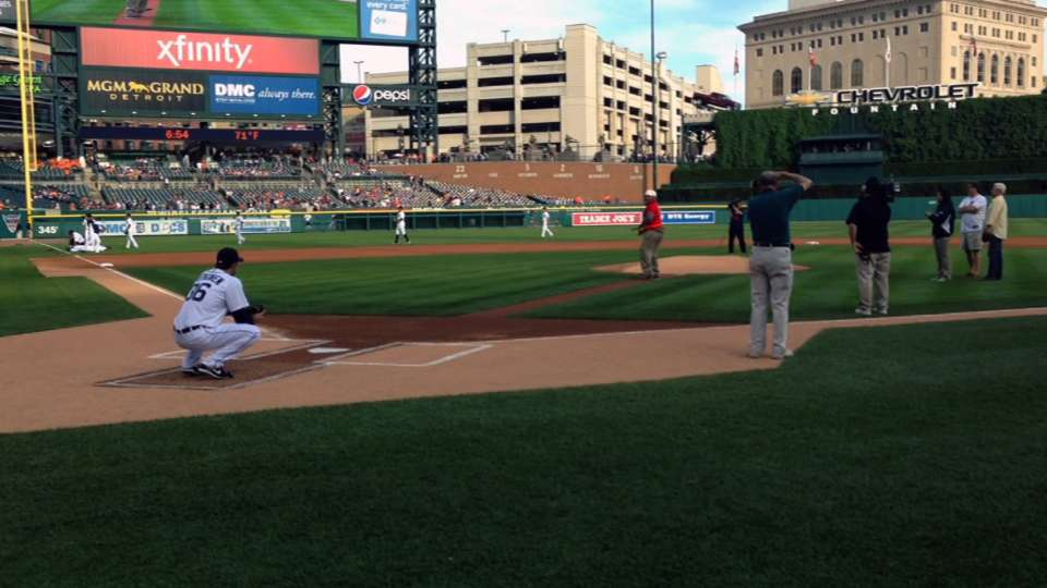 First pitch in Detroit