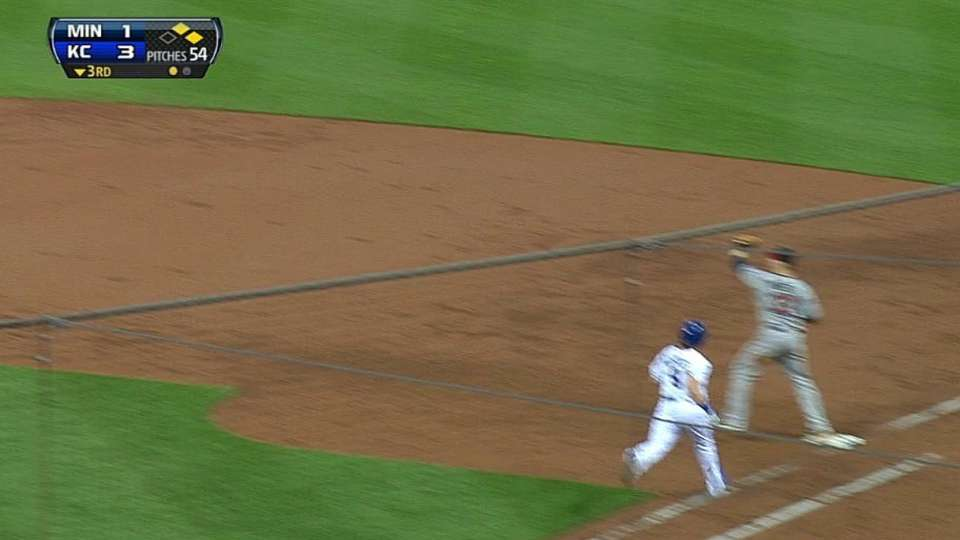 Dozier starts double play