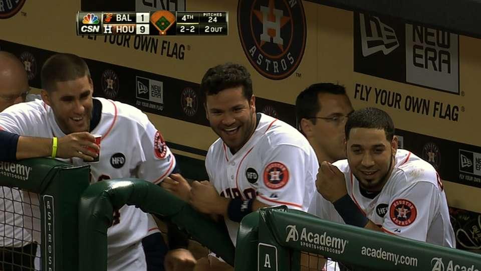 Astros launch six home runs