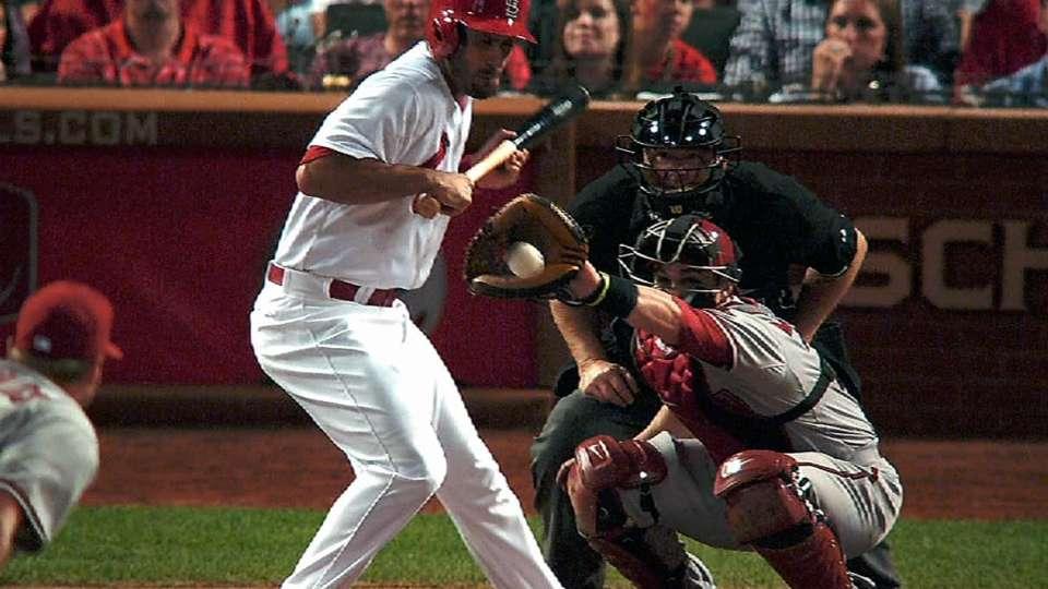 Carpenter hit three times