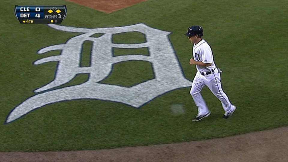 Dirks scores on double play