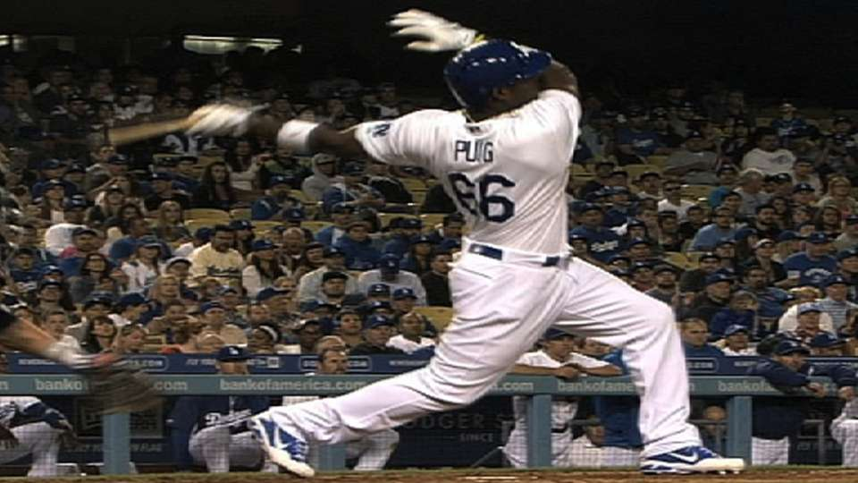 Puig's first career home run