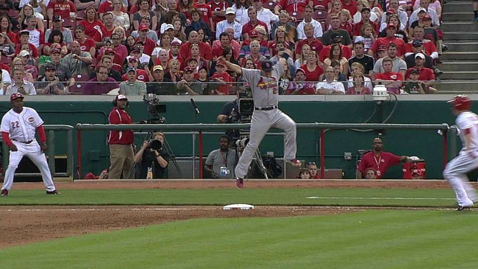 Frazier reaches on disputed call