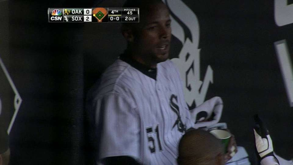 Viciedo's sac fly in fourth
