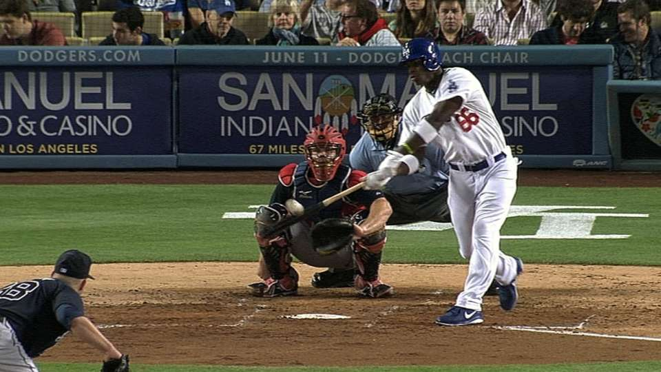 Puig ties game with solo homer