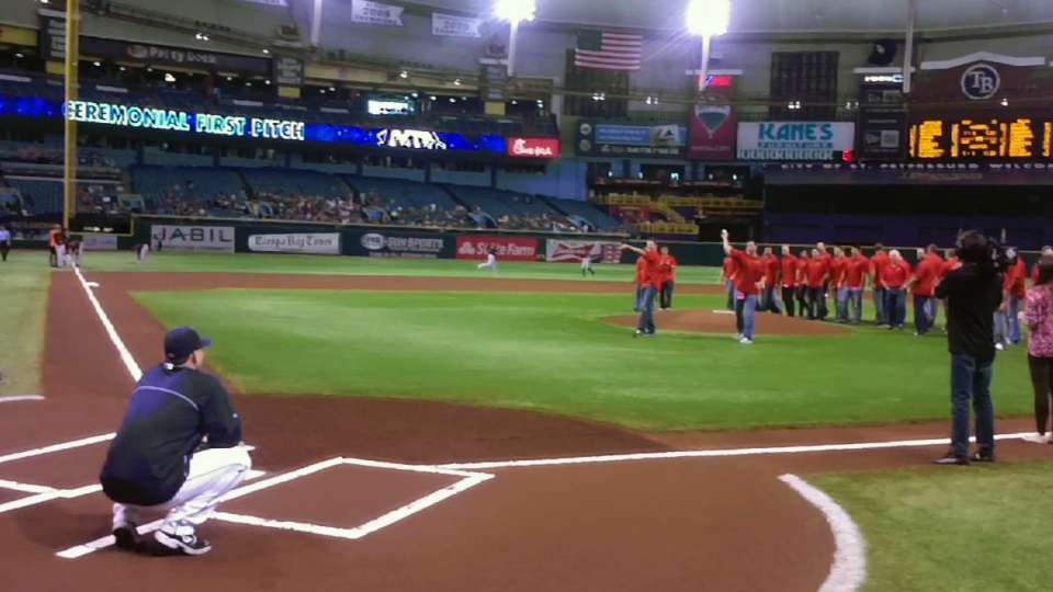 University of Tampa first pitch