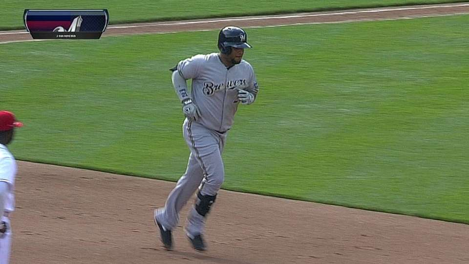 Francisco's two-run homer