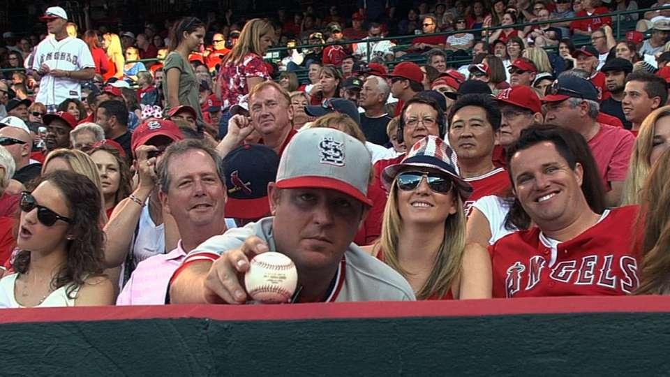 Fan shows off souvenir, loses it