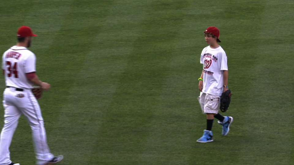 Rupp's ceremonial first pitch