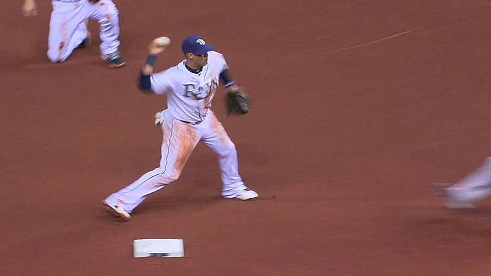 Zobrist's great double play