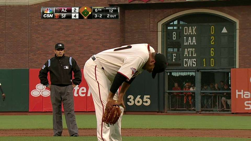 Affeldt leaves with injury