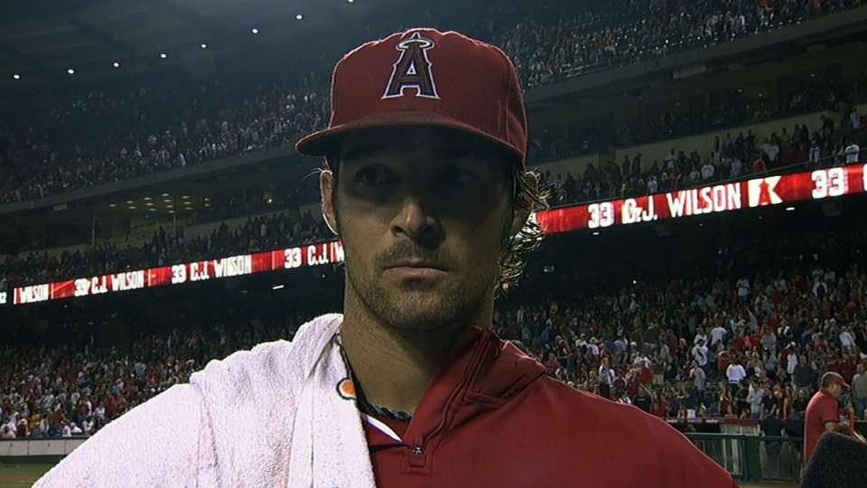Wilson on Angels' shutout win