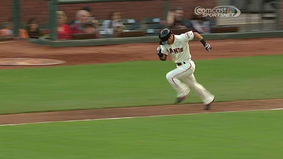 Tanaka's RBI groundout