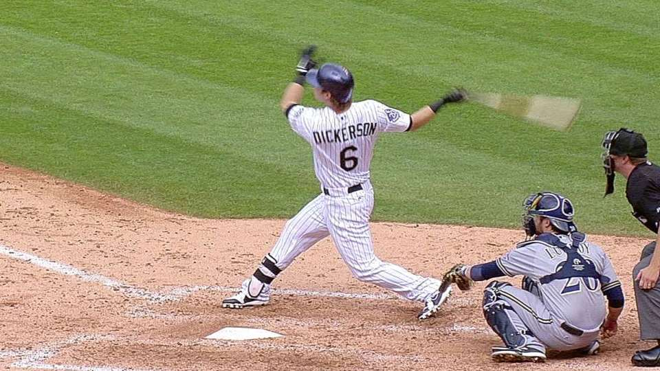 Dickerson's first career homer