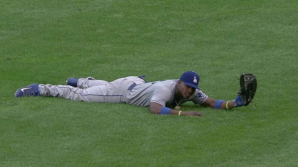 Puig's diving catch
