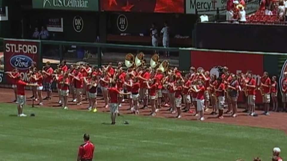 Hillsboro High plays the anthem