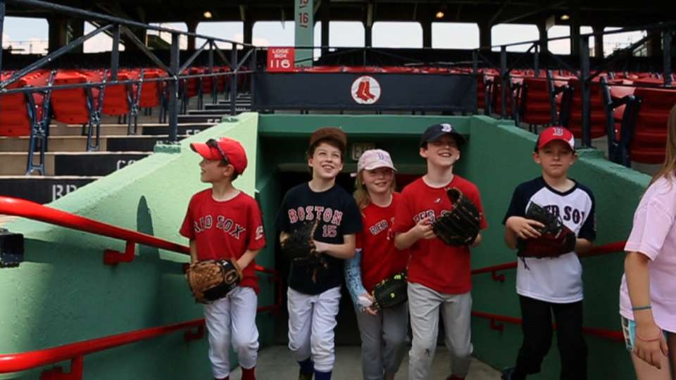 Kids take the field at Fenway