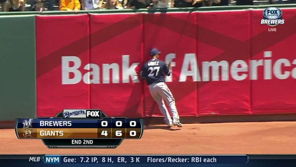 Gomez's over-the-shoulder catch
