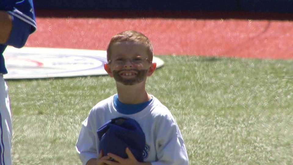 Young fan's Bautista beard