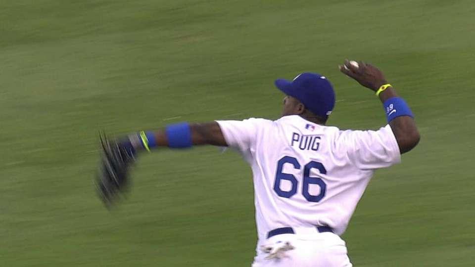 Puig cuts down Byrd