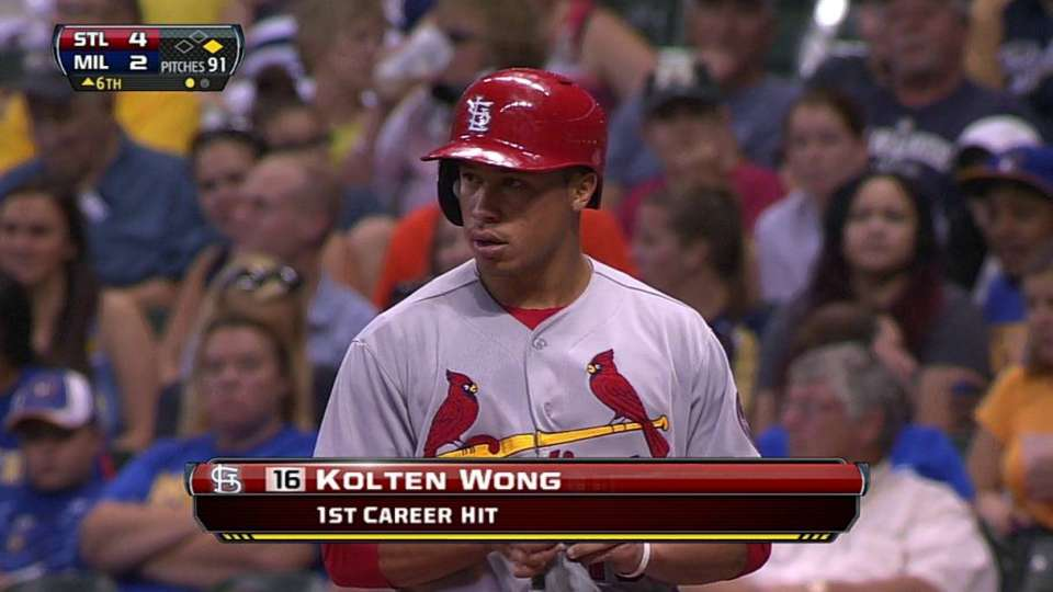 Wong's first career hit