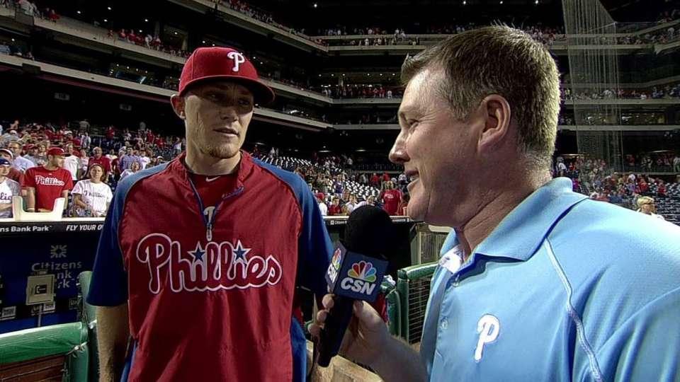 Diekman discusses Phils' victory
