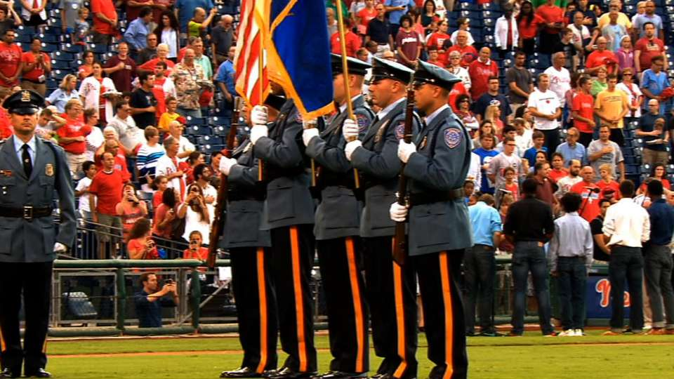 Phillies honor color guard