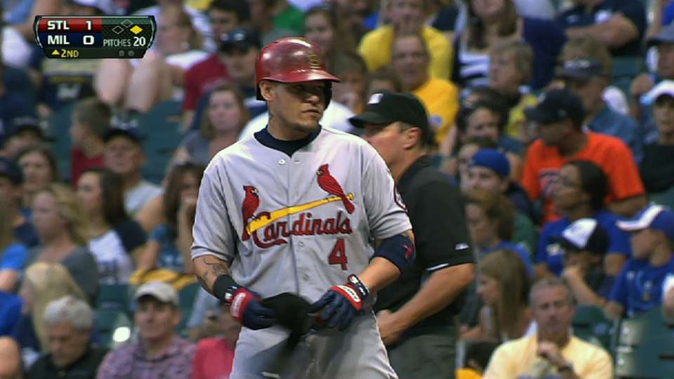 Molina's four-hit game