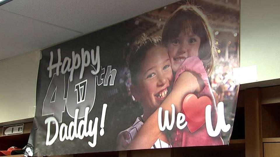 Helton's daughters celebrate dad