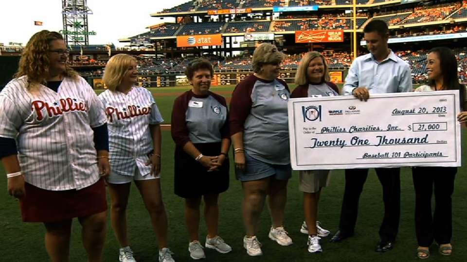 Phillies Charities gets $21,000
