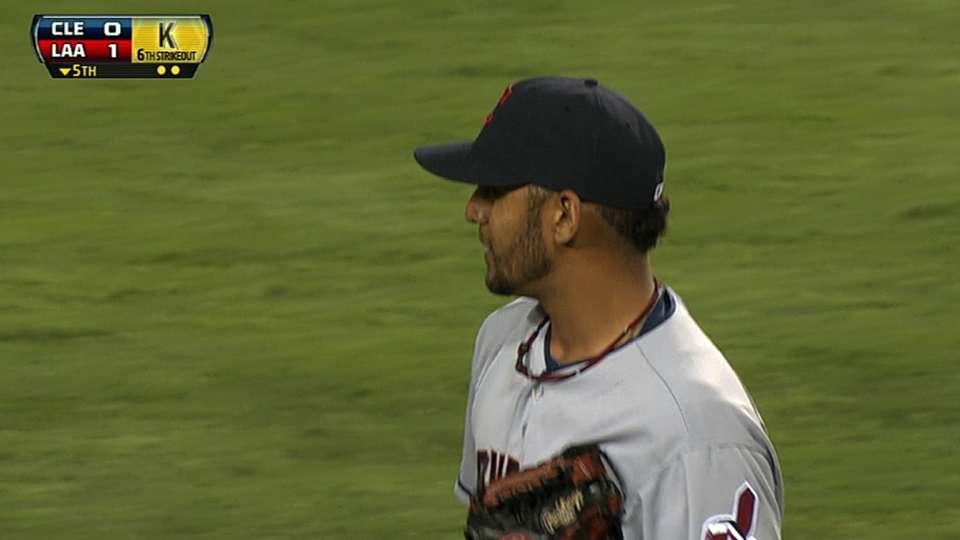 Salazar's seven strikeouts